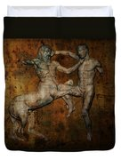 Centaur Vs Lapith Warrior Duvet Cover by Daniel Hagerman