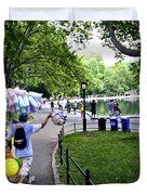 Central Park Balloon Man Duvet Cover by Madeline Ellis