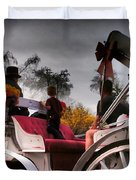 Central Park New York - Romantic Carriage Ride 2 Duvet Cover by Miriam Danar