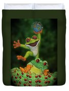 Cha Cha Sign Duvet Cover by Thomas Woolworth