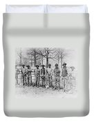 Chain Gang C. 1885 Duvet Cover by Daniel Hagerman