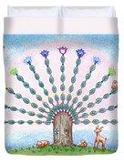Chakra Tree Duvet Cover by Keiko Katsuta