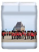 Changing Of The Guard The Citadel Quebec City Duvet Cover by Edward Fielding