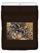 Charge Lancers Duvet Cover by Umberto Boccioni