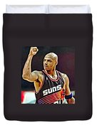 Charles Barkley Duvet Cover by Florian Rodarte