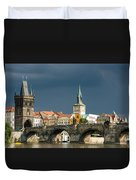 Charles Bridge Prague Duvet Cover by Matthias Hauser