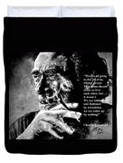 Charles Bukowski Duvet Cover by Richard Tito