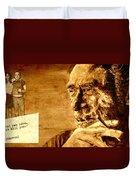 Charles Bukowski - The Love Version Duvet Cover by Richard Tito