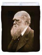Charles Darwin Duvet Cover by Julia Margaret Cameron