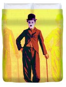 Charlie Chaplin The Tramp Three 20130216p30 Duvet Cover by Wingsdomain Art and Photography