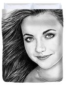 Charlotte Church Duvet Cover by Andrew Read