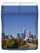 Charlotte North Carolina Duvet Cover by Jill Lang