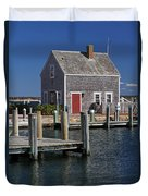 Charming Edgartown Harbor  Duvet Cover by Juergen Roth