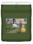 Chasing Tail Duvet Cover by James W Johnson