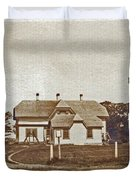 CHATHAM TWIN LIGHTS 1908-18 Duvet Cover by Skip Willits