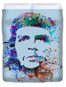 Che Guevara Watercolor Duvet Cover by Naxart Studio