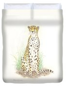 Cheetah On Lookout Duvet Cover by Dag Sla