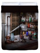Chemist - My Retort Is Better Than Yours  Duvet Cover by Mike Savad