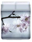 Cherry Blossom Sweetness Duvet Cover by Kathy Clark