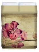 Cherry Blossom With Textures Duvet Cover by John Edwards