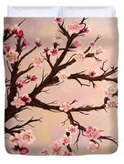 Cherry Blossoms 2 Duvet Cover by Barbara Griffin