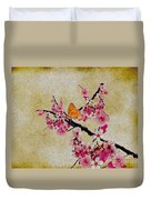 Cherry Blossoms Duvet Cover by Cheryl Young