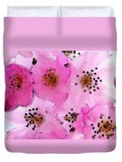 Cherry Blossoms - Flowers So Pink Duvet Cover by Sharon Cummings