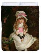 Cherry Ripe Duvet Cover by Sir John Everett Millais
