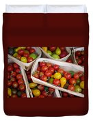 Cherry Tomatos Duvet Cover by Carlos Caetano
