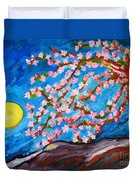 Cherry Tree In Blossom  Duvet Cover by Ramona Matei