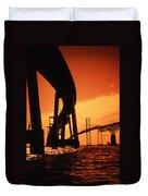 CHESAPEAKE BAY BRIDGE Duvet Cover by Skip Willits