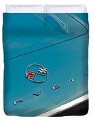Chevrolet Corvette Hood Emblem 2 Duvet Cover by Jill Reger