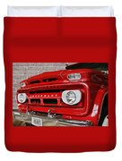 Chevy Beaumont Fire Museum Tx Duvet Cover by Christine Till