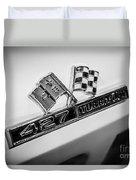 Chevy Corvette 427 Turbo-jet Emblem Duvet Cover by Paul Velgos