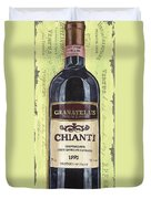 Chianti And Friends Panel 1 Duvet Cover by Debbie DeWitt