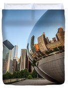 Chicago Bean Cloud Gate Sculpture Reflection Duvet Cover by Paul Velgos