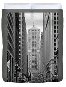 Chicago Board Of Trade Duvet Cover by Christine Till