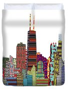 Chicago city  Duvet Cover by Bri Buckley