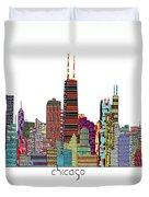 Chicago City  Duvet Cover by Bri B