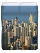 Chicago From Above - What A View Duvet Cover by Christine Till