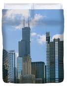 Chicago - It's Your Kind of Town Duvet Cover by Christine Till