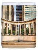 Chicago Millennium Monument in Wrigley Square Duvet Cover by Paul Velgos