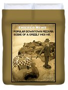Chicago News Duvet Cover by John Malone