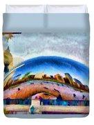 Chicago Reflected Duvet Cover by Jeff Kolker