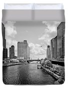 Chicago River - The River That Flows Backwards Duvet Cover by Christine Till