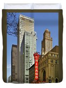 Chicago Theatre - This Theater Exudes Class Duvet Cover by Christine Till