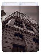 Chicago Towers Bw Duvet Cover by Steve Gadomski