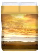 Chicken Farm Sunset 2 Duvet Cover by James BO  Insogna