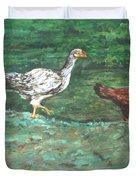 Chicks Duvet Cover by Usha Shantharam