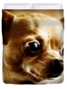Chihuahua Dog - Electric Duvet Cover by Wingsdomain Art and Photography